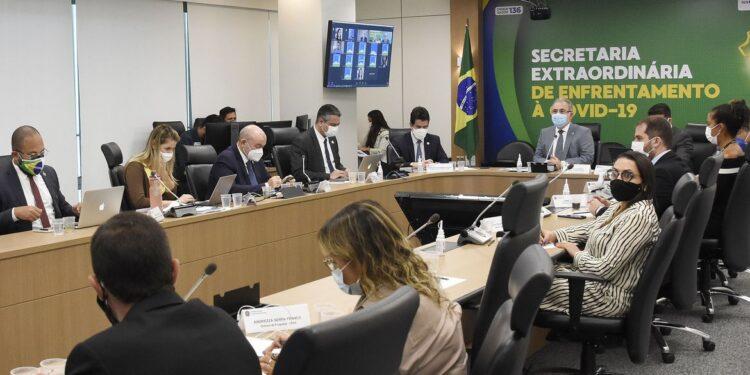 Ministro da Saúde, Marcelo Queiroga, participa de Videoconferência- Audiência Pública da Comissão Temporária do Covid no Senado Federal Brasília, DF, 26/04/2021     Fotos: Tony Winston/MS